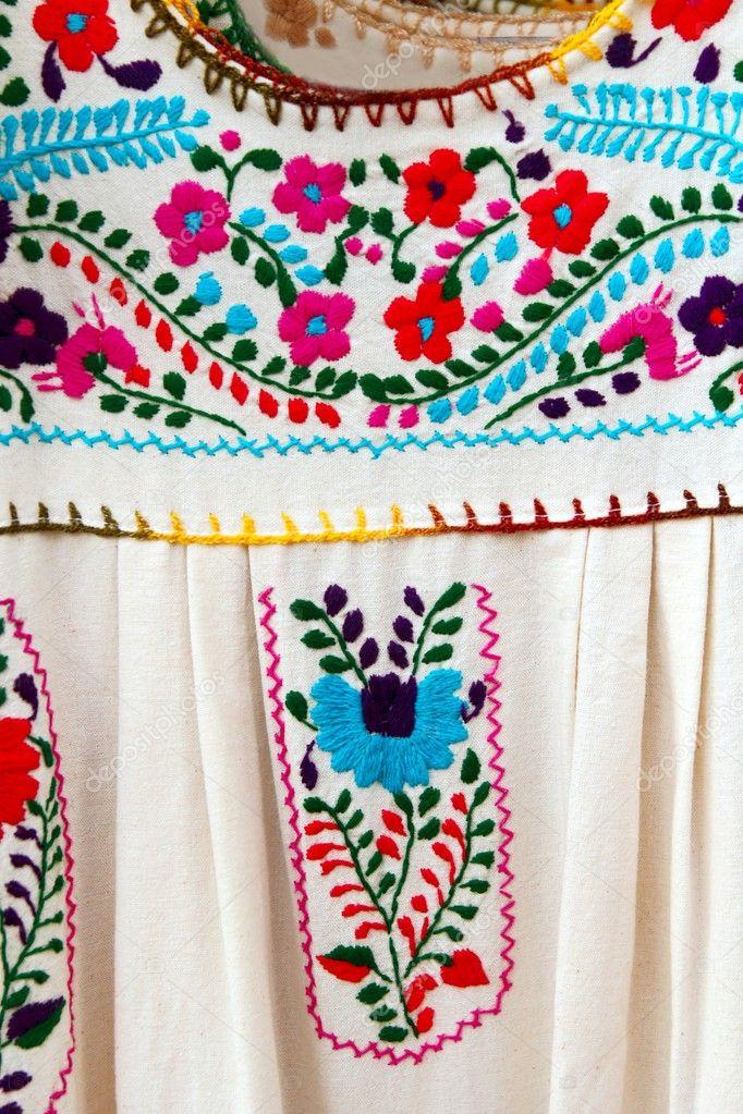 Fotos Bordados Mexicanos Vestido Mexicano Bordado Chiapas