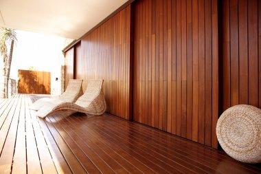 Golden wood spa hammock outdoor house