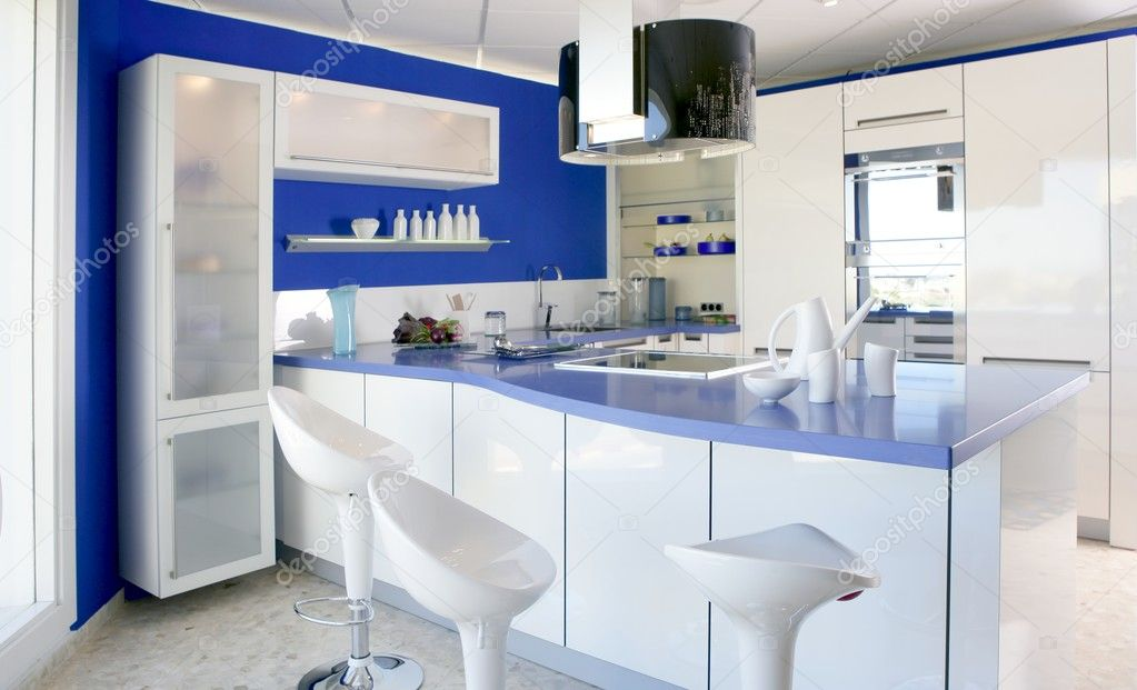 Beautiful Blauw Wit Interieur Contemporary - Trend Ideas 2018 ...
