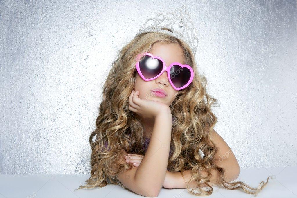 Fashion victim little princess girl portrait