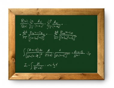 Board green blackboard difficult mathematical formula
