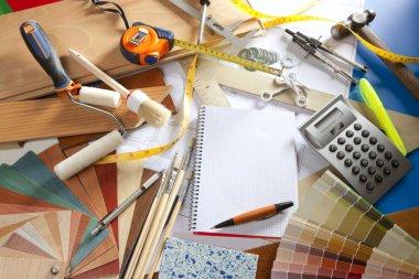 Architect desk designer workplace spiral notebook