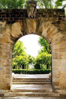 Arch entrance Hort del Rei gardens Palma de Mallorca