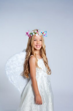 Angel children little girl portrait with fashion wings
