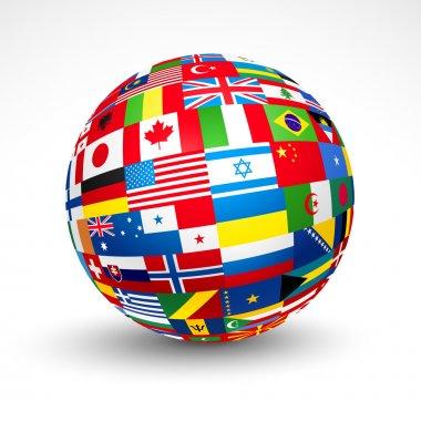 World flags sphere.