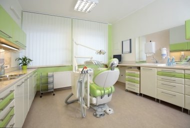 Interior of a modern dental office