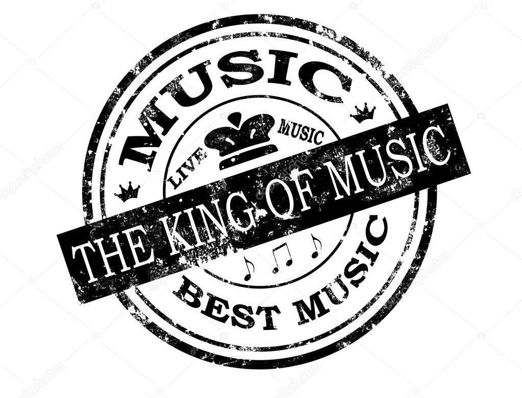 Best Music Stamp Stock Illustration
