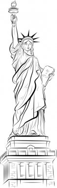 Drawing Statue of Liberty in New York, USA