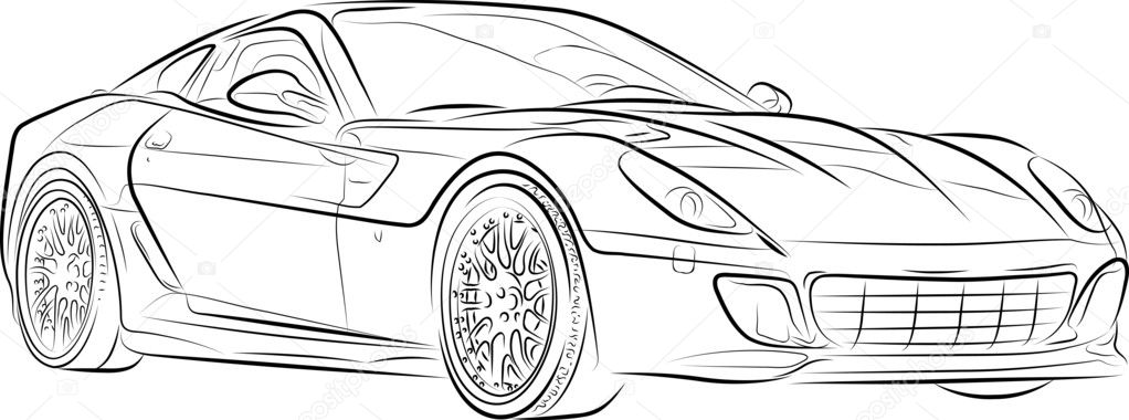 Afbeelding Kleurplaat Raceauto Tekening Van De Auto Stockvector 169 Mirumur 6731424