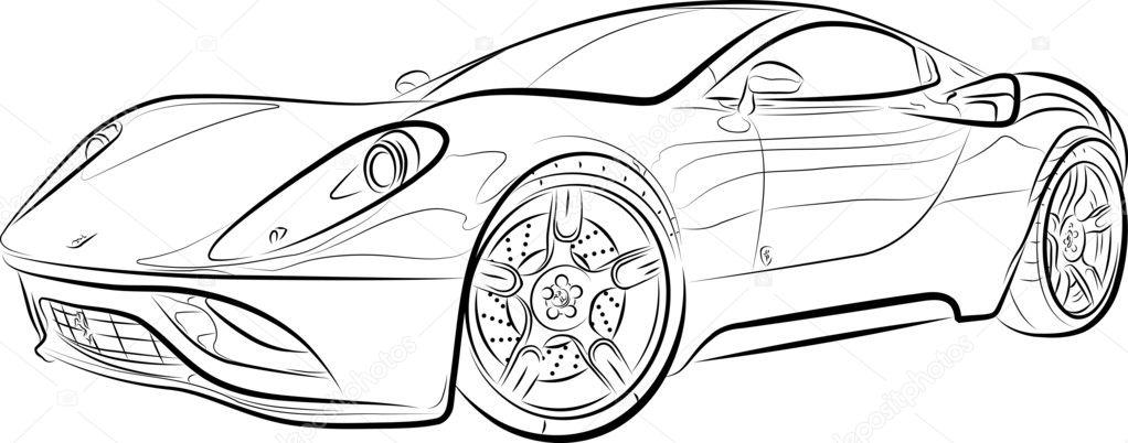 tekening van de auto — stockvector © mirumur #6731427