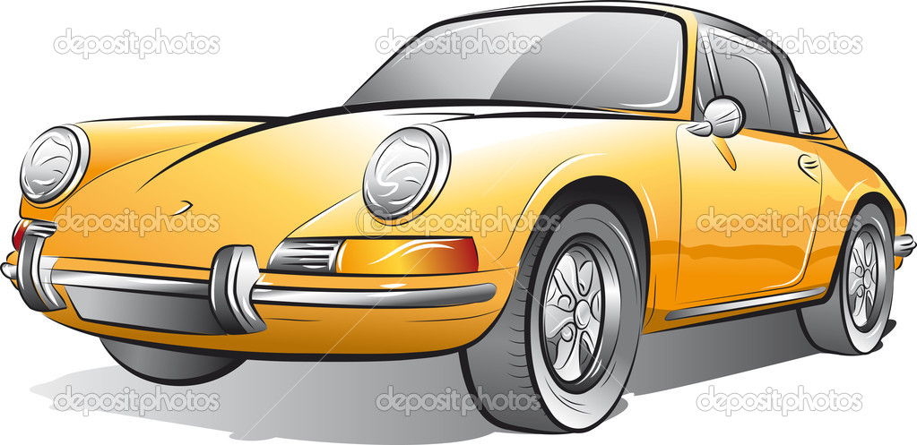 Drawing Of The Yellow Expensive Car Stock Vector C Mirumur 6731460