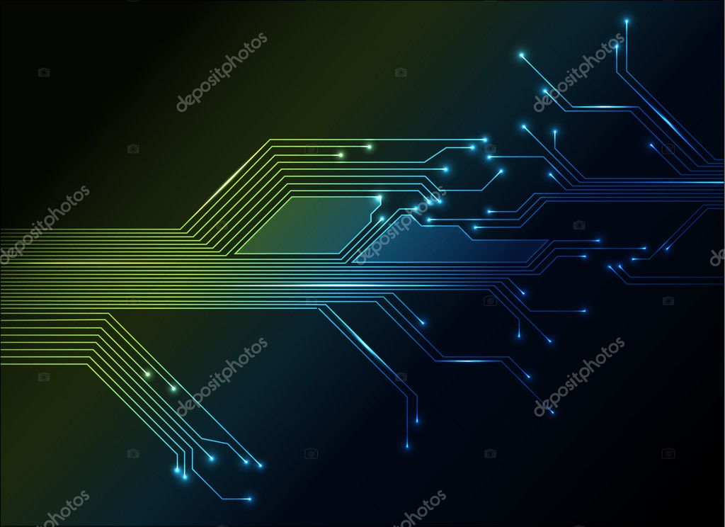 Electronic Circuit Abstract Background Stock Vector C Orson 5544629