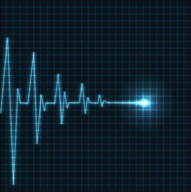 Abstract heart beats cardiogram illustration - vector stock vector