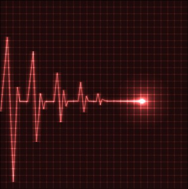 Abstract heart beats cardiogram illustration - vector stock vector