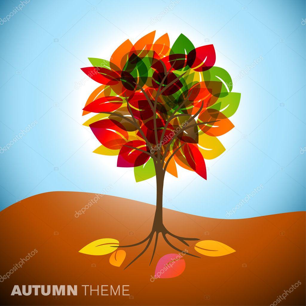 Sonbahar Ağaç çizimi Stok Vektör Orson 6036023