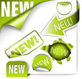 Zöld elemek az új elemek