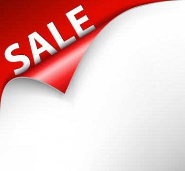 Red sale corner background