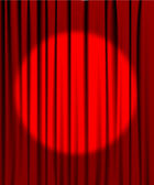 Photo Curtain from the theatre with a spotlight