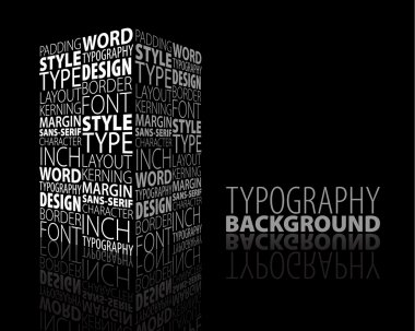 Abstract design and typography background with 3D element stock vector