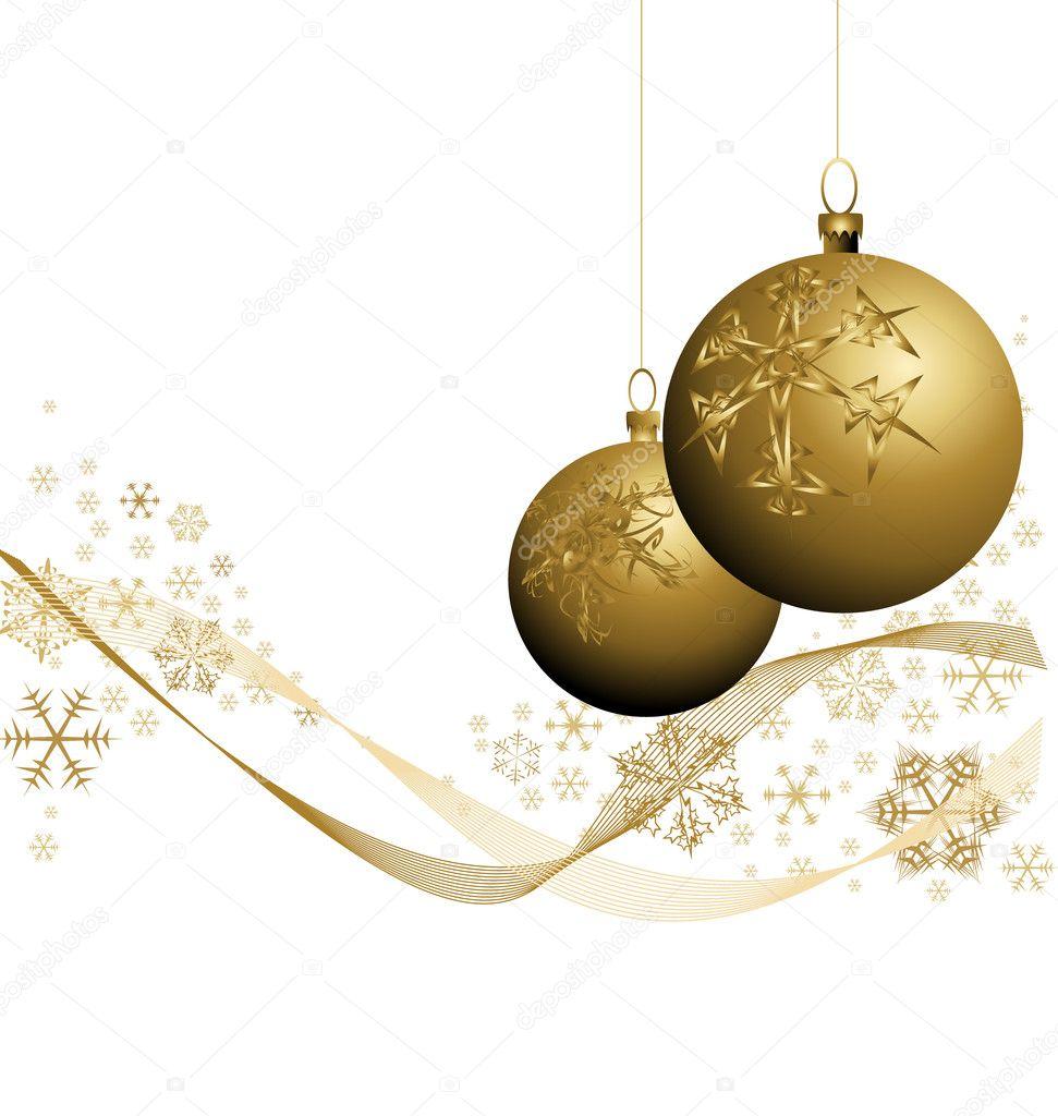 Golden Christmas Decorations Stock Vector