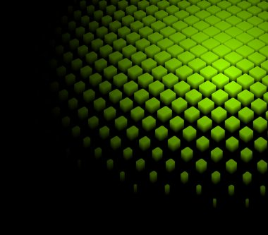 3d abstract dynamic green background