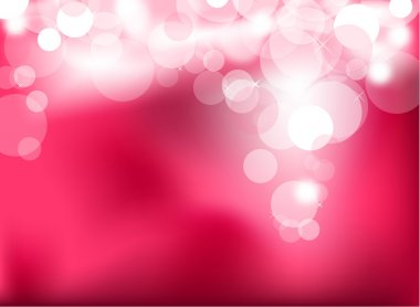 Abstract glowing pink lights