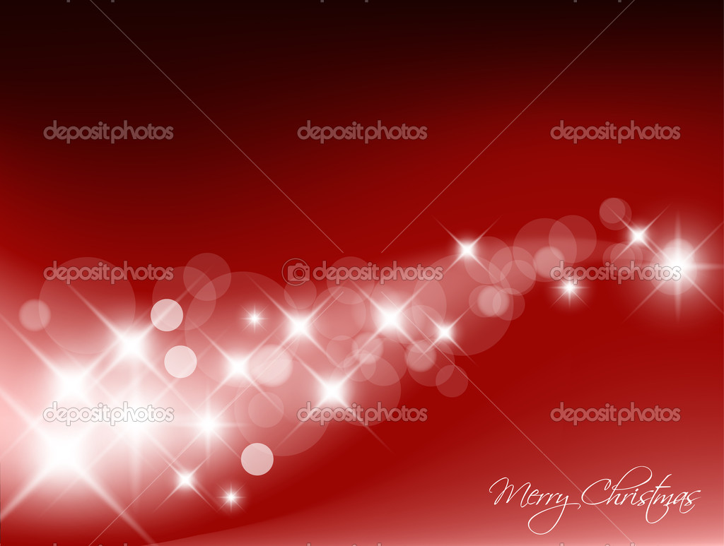 Red Abstract Christmas vector background