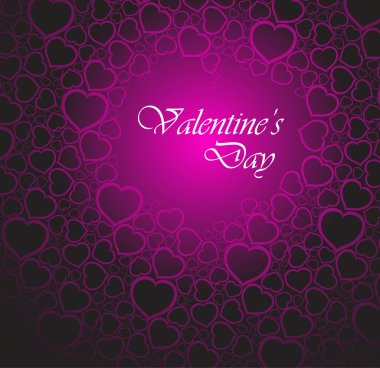 Love vector background made from pink hearts (valentine's day card) stock vector