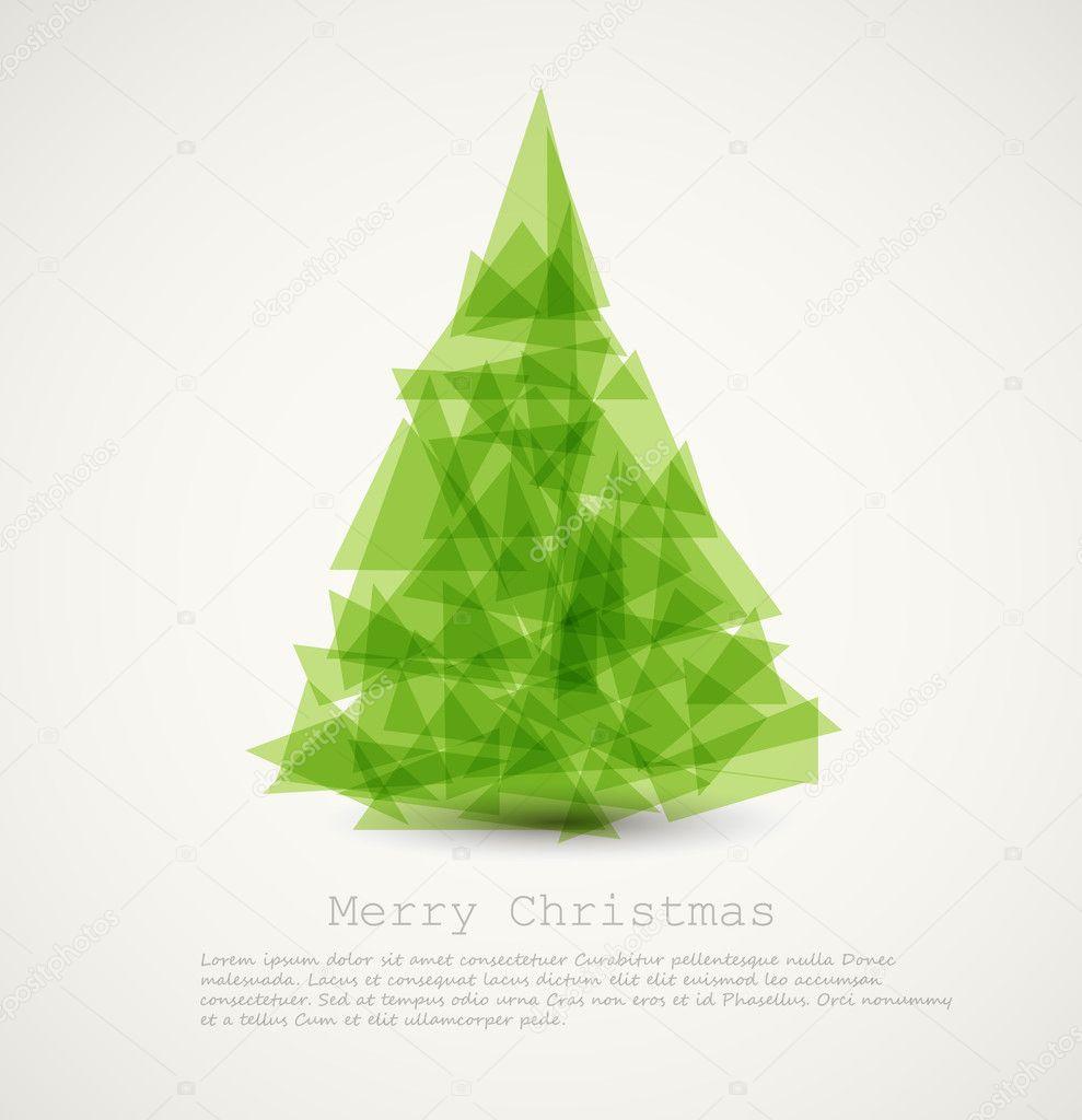 Vector modern abstract christmas tree stock vector Modern christmas