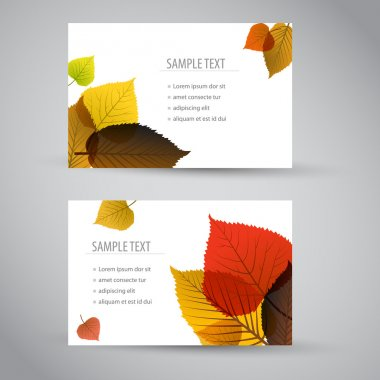Fresh natural fall vector vertical banners or cards