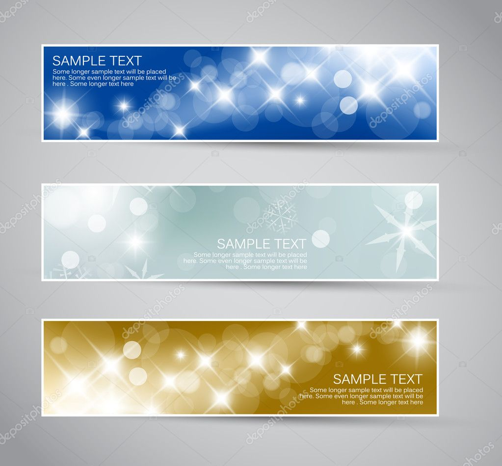 Set of vector christmas - New Year banners