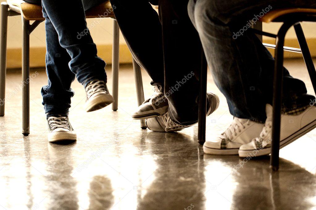 Teenager legs