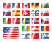 Vector set world flag icons