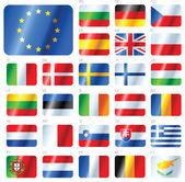 Fotografie EUROPEAN UNION FLAGS - SET OF BUTTONS