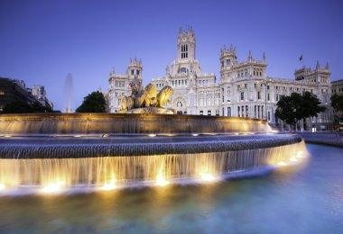 Plaza de Cibeles, Madrid, Spain.