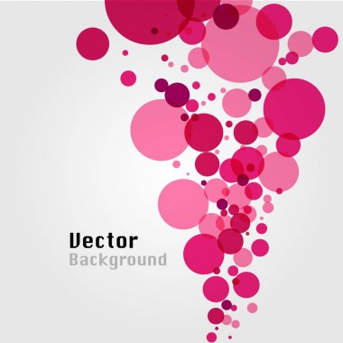 Vector abstract bubble background