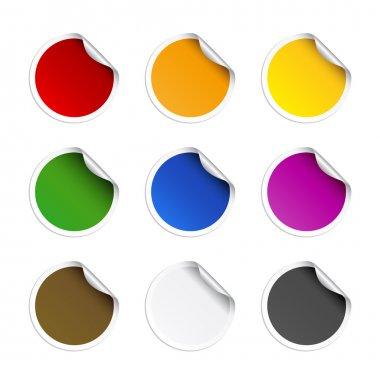 Round stickers stock vector