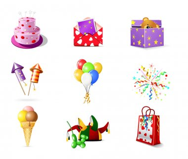 Birthday icons