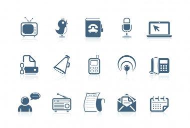Social and communication icons | piccolo series