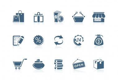 Shopping icons | Piccolo series