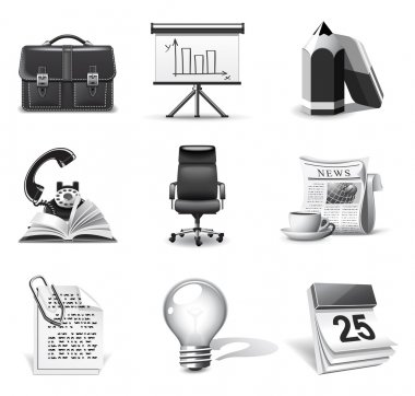 Business icons | B&W series