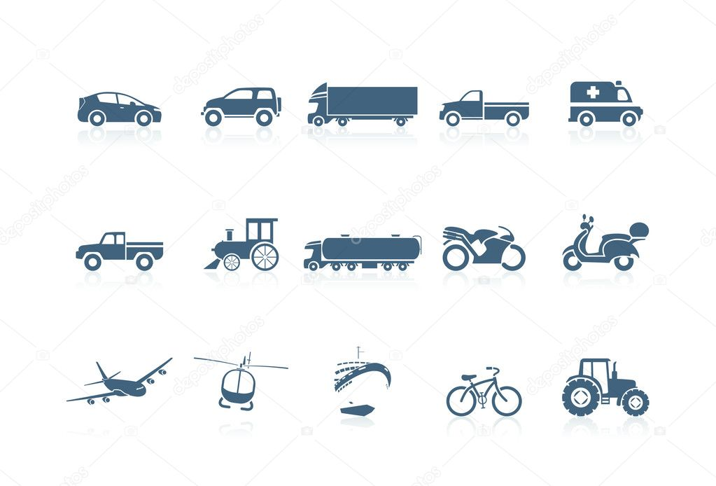 Transportation icons | piccolo series