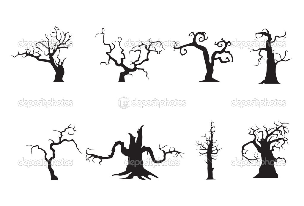 Halloween scary trees