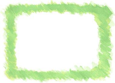 Watercolor frame border