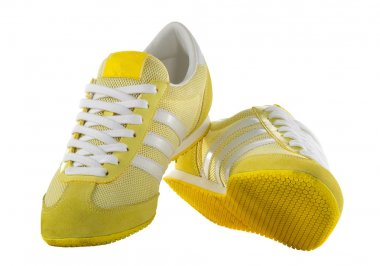 Yellow sport shoes