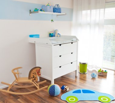 Modern childrens playroom