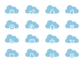 Fotografie vektor-icons für cloud-computing