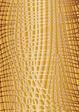 Vector textures gold reptile skin
