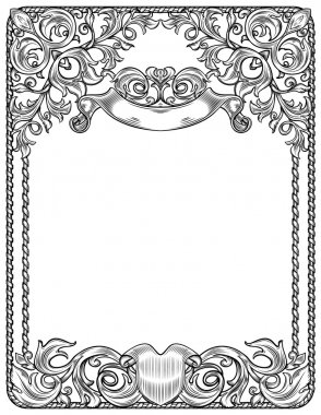 Black and white frame for blank
