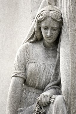 Cemetery Statue of Mourning Woman
